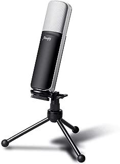 Mugig Microfono Condensador USB para PC Ordenador Portátil con Trípode Soporte Portátil con Cable Grabación USB Mic