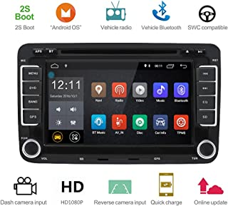 Android 8.1 IPS Car Radio Stereo 8.7inch Capacitive Touch Screen HD GPS Navigation Bluetooth USB DVD Player 2G DDR3+16G for VW Passat Golf MK5 MK6 Jetta T5 EOS Polo Touran Seat Sharan RM-CLVW70-D
