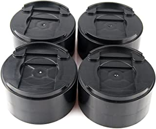 MIIX HOME / 8 Pack Round Black Add 1-2 inch Durable & Stackable & Adjustable Bed Risers, Lifts for Bed Frame, Table Risers or Furniture Risers/Adjustable Heights Frame Lifts / 1500 pounds