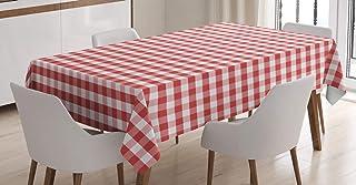 ABAKUHAUS À Carreaux Nappe, Traditionnel Vichy, Linge de Table Rectangulaire pour Salle à Manger Décor de Cuisine, 140 cm ...
