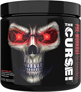 JNX Sports The Curse! Pre Workout Supplement - Intense Energy & Focus, Instant Strength Gains, Enhanced Blood Flow - Nitric Oxide Booster with Creatine & Caffeine - Men & Women   Watermelon   50 SRV