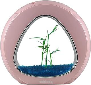 Nobleza - Acquario Nano Fish Tank con luci LED incorporate e Pompa dell'Acqua, acquari Tropicali, 4 Litri, Rosa