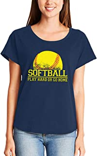 HAASE UNLIMITED Softball Play Hard Or Go Home - Homerun Sports Ladies Dolman