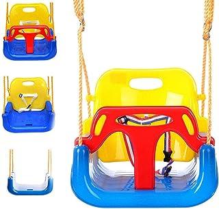 GBHJJ 3-i-1 barn gungsäte, inomhus baby gunga, avtagbar uppgradering version gunga set, djungel säker hängande sits-set fö...
