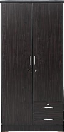 AFT 2 Door Wooden Wardrobe, Wenge - D50 x W90 x H190 cm