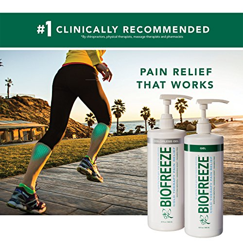 Biofreeze Pain Relief Gel, 32 oz. Pump, Colorless (Packaging May Vary)