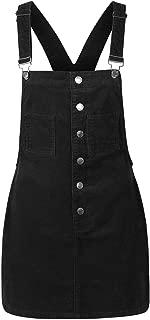 Women's Corduroy Pocket Button Down Skirt Dress Overall Skirtall