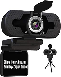 USB Webcam 1080P with Microphone, Full HD Video Calling and Recording, Web Cameras for Computers, Desktop or Laptop Webcam