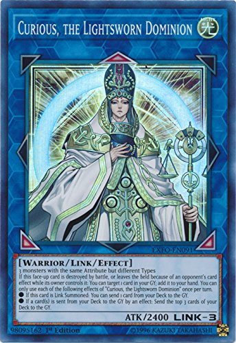 Curious, the Lightsworn Dominion - EXFO-EN091 - Super Rare - 1st Edition - Extreme Force (1st Edition)