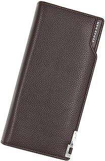 BeniNew men's wallet business fashion long-capacity multi-function coating bag-dark brown