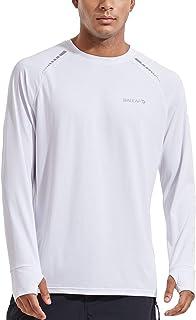 BALEAF Men's Cooling Lightweight UPF 50+ Workout Long Sleeve Rash Guard Quick Dry Athletic Thumb Holes T-Shirts