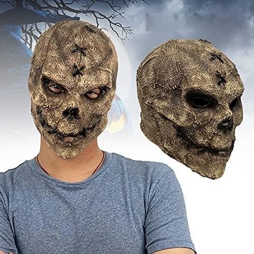 low-pricing JZENZERO Scary Skull Headgear San Diego Mall Novelty Masque Ha Realistic Latex