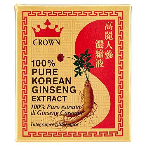 Crown - Ginseng Estratto Puro 100{9606c87af6b46346b75ca86d03132832a32a8b87cb8049344f2804223a0931f5} - Estratto di Radice di Ginseng Coreana - 20 gr
