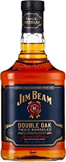 Jim Beam Double Oak - Twice Barreled Bourbon Whiskey, zweifach gereift in ausgeflammten Weißeichenfässern, 43% Vol, 1 x 0,7l