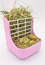 SunshineBio Hay Food Bin Feeder, Hay and Food Feeder Bowls Manger Rack for Rabbit Guinea Pig Chinchilla and Other Small Animals (Pink)
