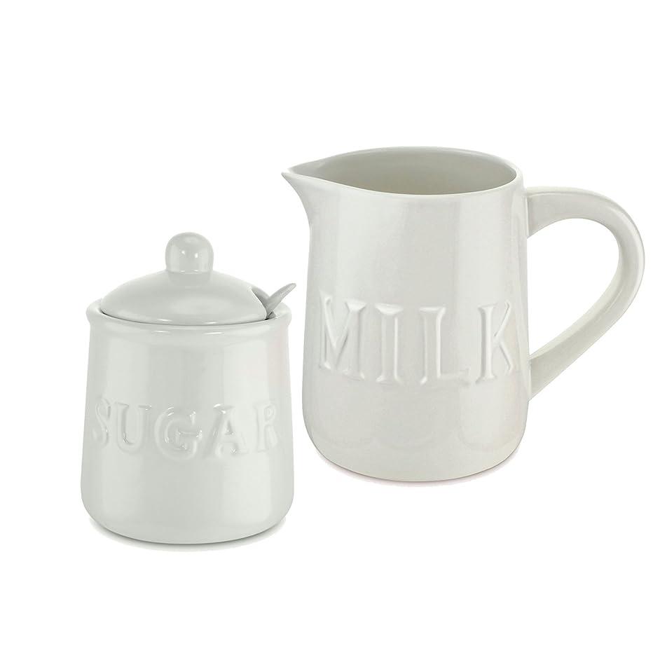 KOVOT Ceramic Cream and Sugar Set - Includes 10 oz Sugar Jar & 32 oz Creamer/Milk Jug