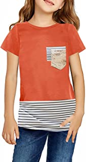 storeofbaby Girls T-Shirts Casual Cute Tops Short Sleeve Loose Fit Blouse 4-13 Years