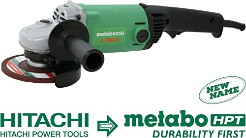 Metabo HPT G13SC2 5-Inch Angle Grinder, 11-Amp Dust-resistant Motor, Trigger Lock-on, 10,000 RPM, Compact and Lightweight Design, 1-Year Warranty