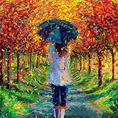 Lacvik 4000 Rompecabezas para Adultos Una colección Girl in The Woods Puzzle Collares de Colores para Adolescentes y niños Arte 141x88cm