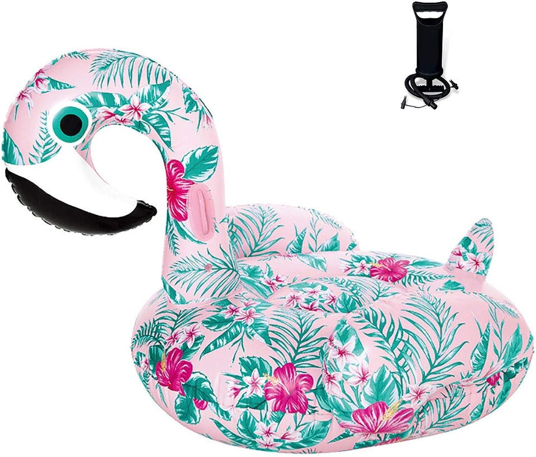 ZHYY Aufblasbar Schwimmende Reihe Mit Luftpumpe PVC Mustervogel Tragbar Mode Faul Schwimmendes Bett Outdoor Wasserspielzeug Sommer Aktivitten am Meer Poolparty