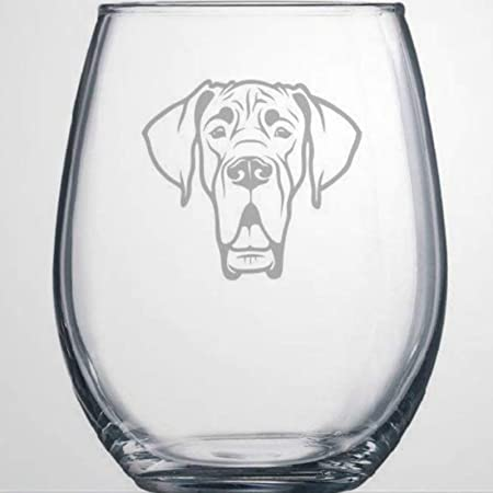Amazon Com Great Dane Dog Themed Etched All Purpose 12 75oz Libbey Wine Glass Wine Glasses