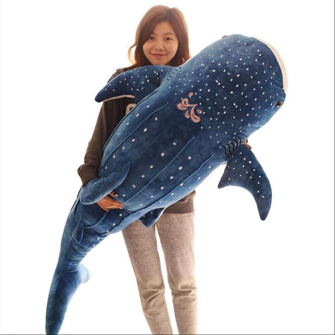 ワイプ買い物に行くウール枕玩具漫画ジンベイザメぬいぐるみ子供枕人形クッションとても安全でヘルシーな素材 枕?抱き枕 (Color : Blue, Size : Height 100cm)