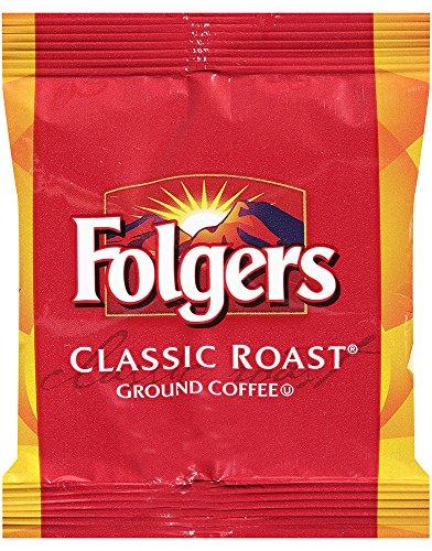 Folgers Classic Roast Medium Roast Ground Coffee, 42- 1.5 Ounce Fraction Packets, Frac Packs