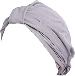 Ganves Women's Chemo Pre Tied Turban Cap Hair Wrap Cover up 2 Pack