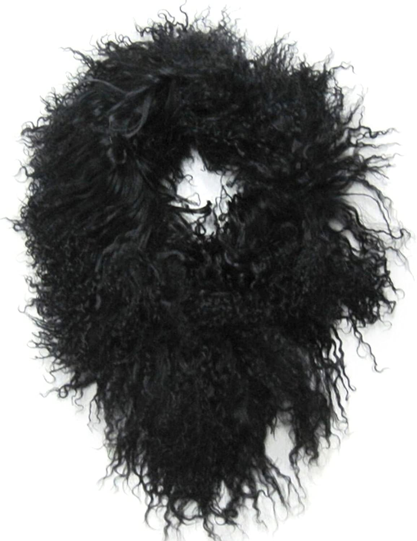 4 In Wide Mongolian Lamb Headband, Neck Warmer & Collar