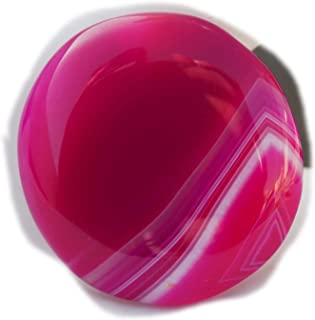 The Best Jewellery Pink Botswana Agate cabochon, 34Ct Natural Gemstone, Round Shape Cabochon For Jewelry Making (28x28x5mm...