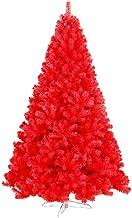 Ariv Red Christmas Tree 1.8M/6ft Color Xmas Tree 772 PVC Tips 180cm Christmas Ornament Metal Frame Deco Gift