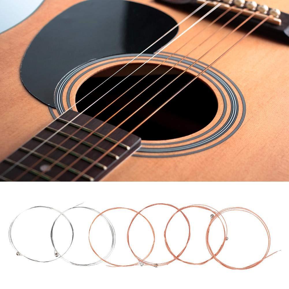 Fafeims Cuerdas de Guitarra Folk, 6 Piezas de Acero Suave y ...
