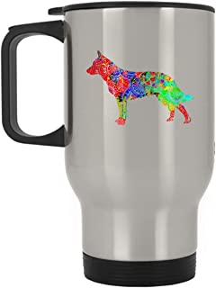 Blue Heeler Travel Mug - Love Blue Heeler Stainless Steel Mug (Silver)