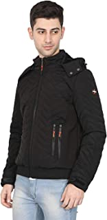 HIVER Men's Nylon Xtreme2.0 Jacket 100% Water Proof Full-Sleeved Winter Jacket with Hood for Minus Degree
