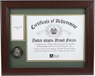 Allied Frame U.S. Army Medal and Award Frame with Medallion -13 x 16