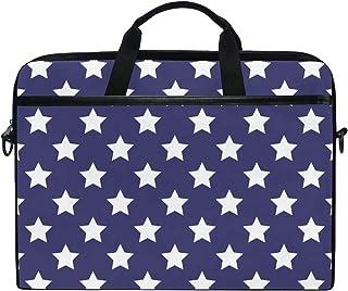 MASSIKOA Stars Blue Laptop Shoulder Messenger Bag Case Sleeve for 14 Inch to 15.4 inch Laptop
