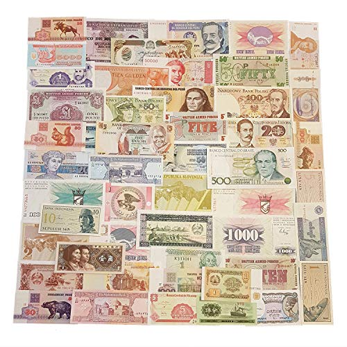 World Banknotes - 50 Banknotes Different Foreign, Currency, Uncirculated, History Rare