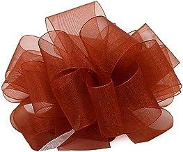 """Offray Berwick LLC 135747 Berwick Simply Sheer Asiana Ribbon - 1-1/2"""" W X 100 yd - Rust Ribbon"""