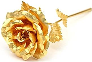 Beautiful Golden Rose 24K Gold Foil Lasts Forever With Gift Box And Bag Creative Unique Romantic Anniversary Birthday Or Valentines Day Gift gcr2