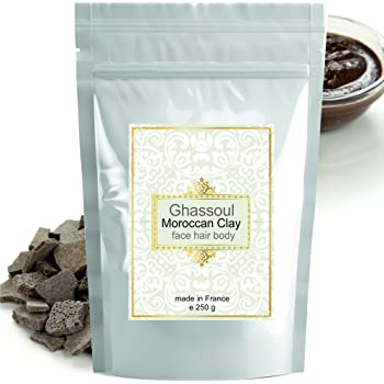 Rasul Body Mud Ghassoul (rhassoul) Authentic Clay Atlas 250 g Exquisite spa quality mineral-rich clay from Morocco - Face, Hair, Body Detox