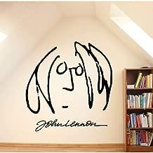 LJQTA Wall Sticker Wall Art Mural Removable John Lennon Self Portrait Wall Sticker Vinyl Portrait Wall Decasl Home Interior Design Decor