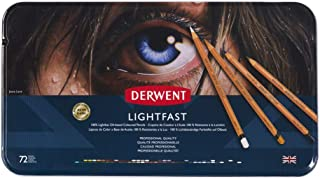 Derwent 2302722 Lightfast Coloured Pencil Tin (Pack of 72)
