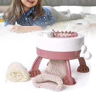 Zwindy Máquina de Tejer, máquina de Tejer a Mano DIY, Juguetes educativos con 2 Hilos de Lana, Aguja, para niños, Gorro, Bufandas, suéter