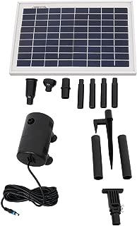 Sunnydaze 8W Outdoor Solar Pump and Panel Fountain Kit with 2 Spray Heads, 200 GPH, 80-Inch Lift