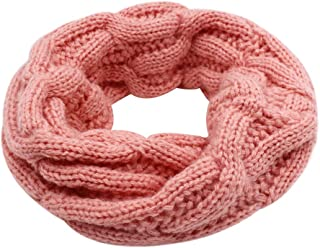 Baby Kids Knit Infinity Winter Scarf Warm Thick Circle Loop Scarf Neckerchief for Boys Girls