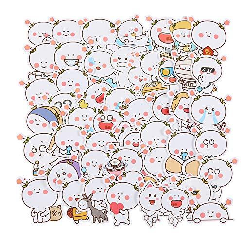 JZLMF 50 emoticons pegatinas para maleta de equipaje, maleta, carro de guitarra, planas, pegatinas decorativas impermeables