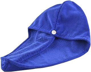 Super-Absorbent Dry Hair Cap Shower Cap Female Dry Hair Towel Blue