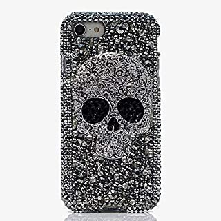 Galaxy Note 9 Skull Case,Samsung Note 9 Luxury 3D Shiny Crystal Sparkle Rhinestone Metal CrossBones/Skull Head Back Ultra Thin TPU Bling Diamond Glitter Case For Samsung Galaxy Note 9 Deluxe Case