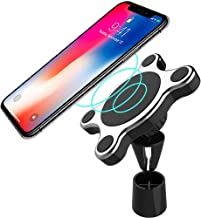 Fast Wireless Car Charger Mount, Smart Sensor Wireless Car Charger, Automatic Clamping Phone Holder Mount, 10W Fast Charging Holder