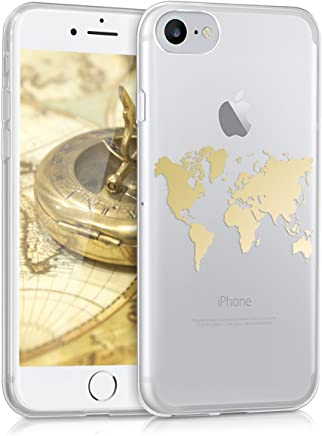 coque iphone 8 transparent carte du monde